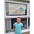 Ella supporting the fantastic NHS