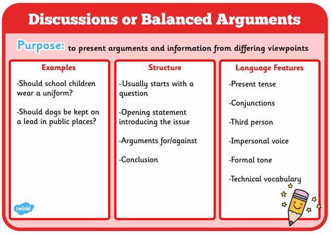 Balanced argument word mat