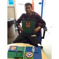 Natai getting creative with Lego.