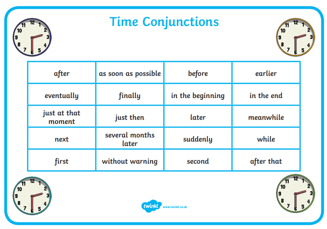 Time conjunctions