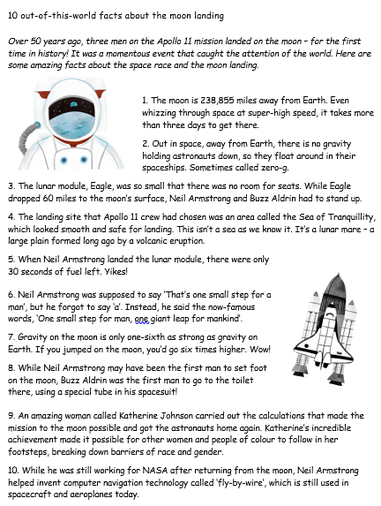 Moon Landing - 10 Facts! - Click Here