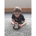 Gabriel has built his own electronic robot