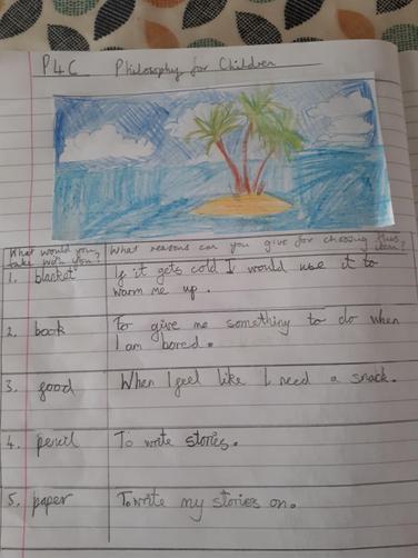 Oliver's desert island work!