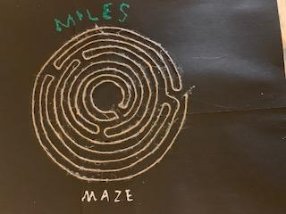 Miles' glue gun and string maze!