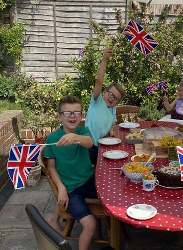 Max and Henry's VE day celebrations!