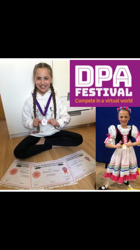 Valentene's virtual dance festival achievement!