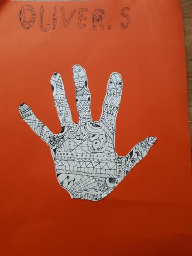 Oliver S's creative zentangle!