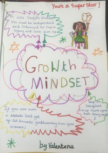 Valentene's growth mindset work