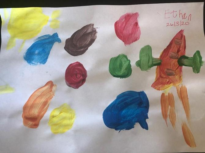 Ethan's fantastic space painting