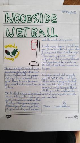 Maria's netball article