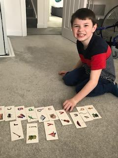 Elliot's alphabet activity!