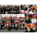 We took part in a whole school 'take one picture' project, designing hats.