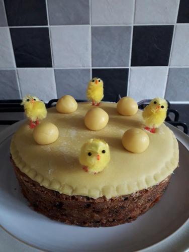 Charlie's Easter Simnel cake - yum!