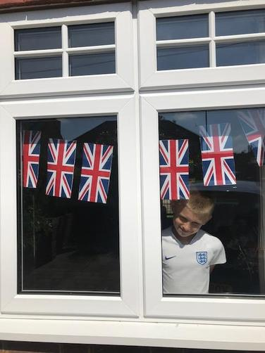 Handmade flags from Jack!