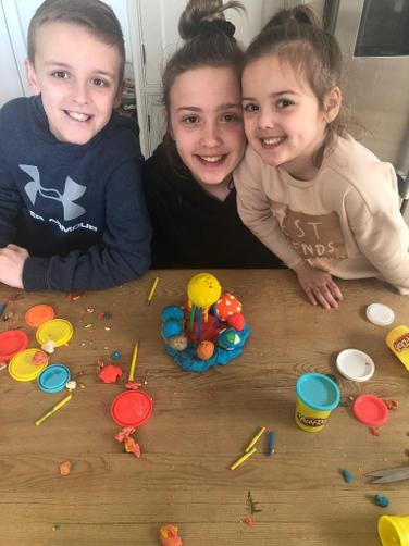 A fantastic family effort with Clemence's project