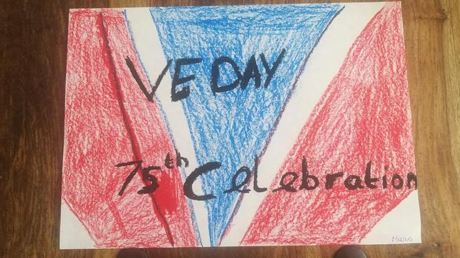 Maria's VE day art