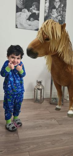 It's a thumbs up from Angelo with the Pony!