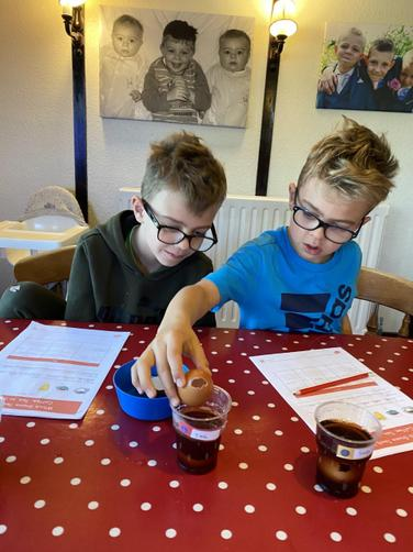 Max and Henry's egg experiment!