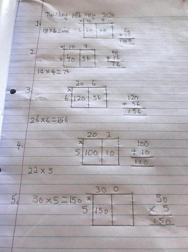 Jack's super neat maths!