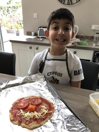 Kyri has been making Pizza! Yum!