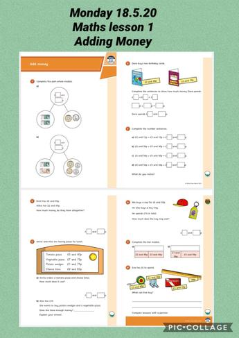 Monday 18.5.20  Maths - Adding Miney