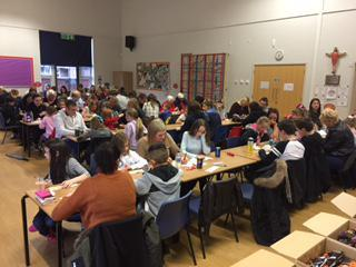 Over one hundred people joined in the bingo fun