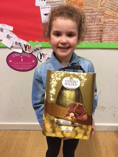 Congratulations, first prize in the Easter Raffle
