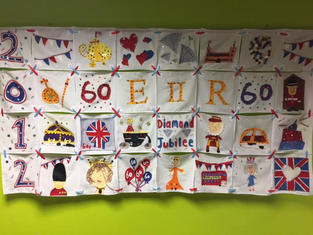 Textile work for the Queen's Diamond Jubilee