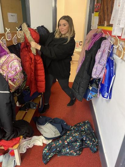 """""""I surprised Miss Page this morning with a good tidy up"""" - Miss Niblett"""