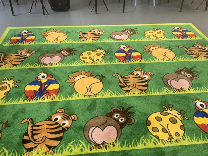 Our fantastic carpet with sitting spots