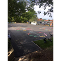 Our new top playground including fitness markings