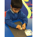 Learning the shape of the letters for our names