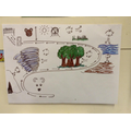 Our story map  'We're Going on a Bear Hunt'