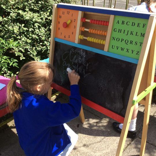 Use a chalk board.