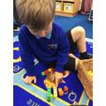 Making Numberblock towers