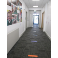 Corridor for the Rec and Year 2 classrooms