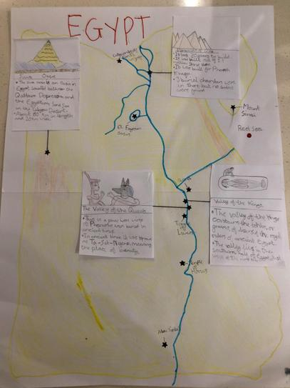 Hand-drawn map and info