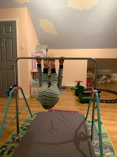 C doing some gymnastics