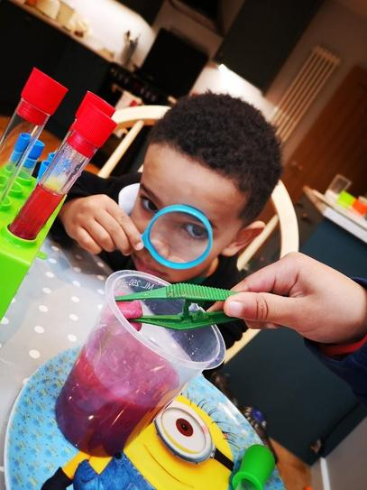 M being a scientist!