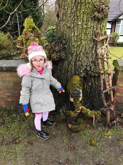 A found a fairy house on her walk!