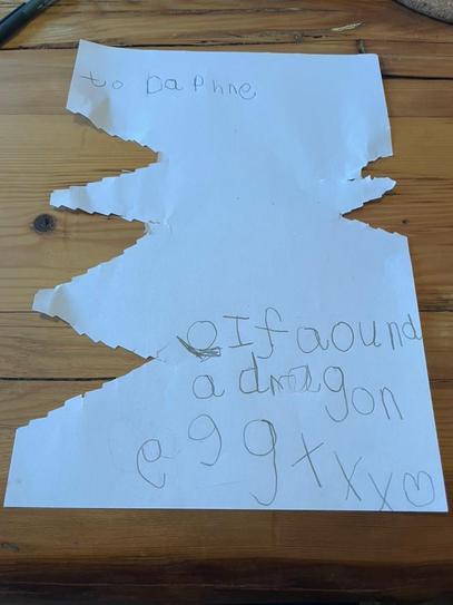 A dragon bit Alice's letter!