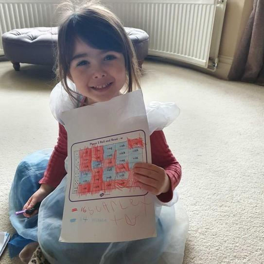 Playing roll and read!