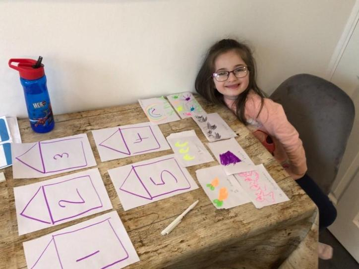 A matching numerals and amounts