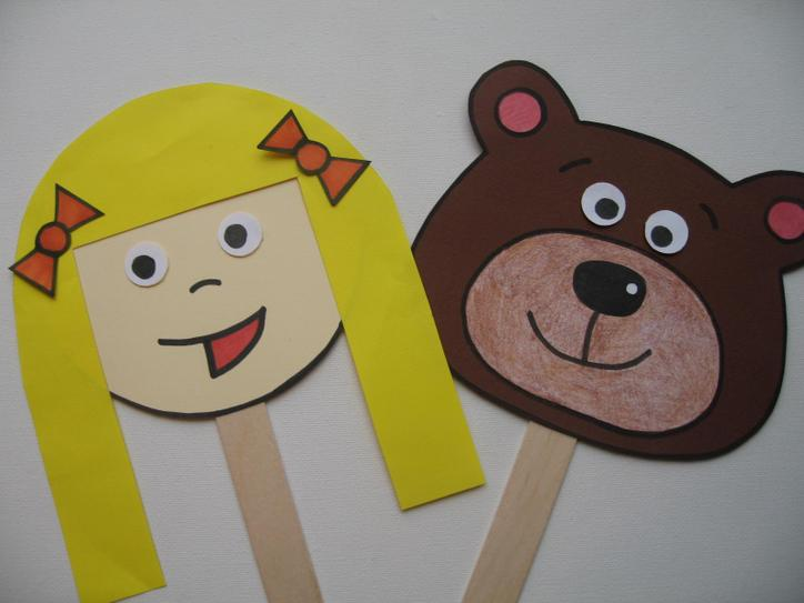 You could make some stick puppets.