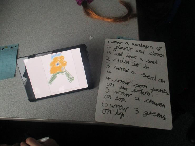 Y2 made quick notes before they programmed their characters to move.
