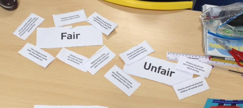 Road Safety Statement sorting - KS2