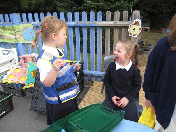 Role-play - Building up stories together.
