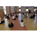 Yoga session - learning to relax our body and mind