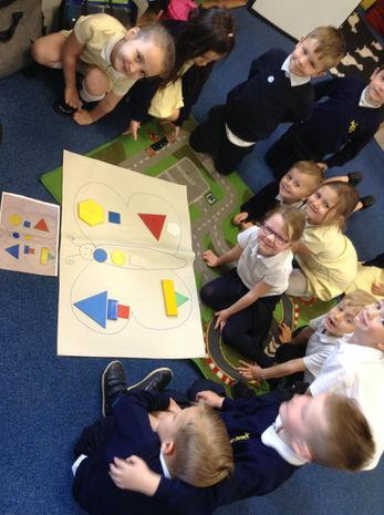 Using language to position shapes.