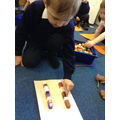 Measuring how big our feet are - using cubes